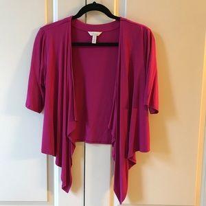 NWOT Soma Cropped Pink Short Sleeves Cardigan